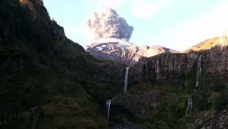 A Hiker Accidentally Caught The Chilean Volcano Erupting On Video