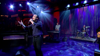 Future Islands Dedicated Their David Letterman Performance To The People Of Baltimore