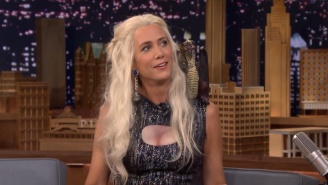 Watch Jimmy Fallon Attempt To Interview Kristen Wiig As Khaleesi From 'Game Of Thrones'