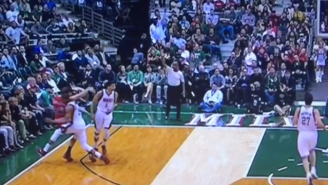 Giannis Antetokounmpo Gets Ejected After Tackling Mike Dunleavy Jr.