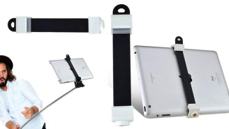 Tablet Selfie Sticks Are Now On Sale Because Selfie Sticks Aren't Bad Enough