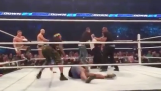 A Group Of Fans Invaded The Smackdown Main Event And Pro-Wrestled With Security