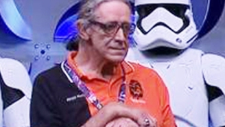 All hail Peter Mayhew's awesome 'Star Wars Celebration' accessory