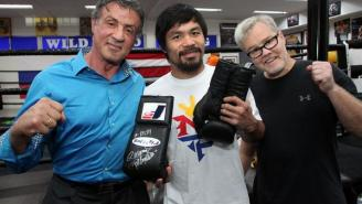 Looks Like Sylvester Stallone Is Backing Manny Pacquiao