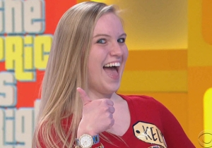 Watch Drew Carey Lose It When This 'The Price Is Right' Contestant Describes Herself