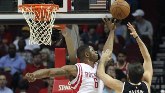 Terrence Jones Blocks Three Of Carl Landry's Shots In Four Seconds