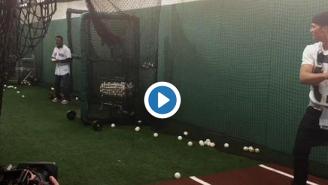 Video Of Tom Brady Taking Batting Practice Off Pedro Martinez Is Every Boston Fan's Fantasy Come True