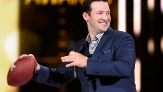 Tony Romo owns the ACM Awards with Deflategate joke