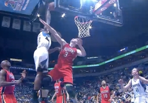 Dunk Of The Year? Andrew Wiggins Baptizes Omer Asik