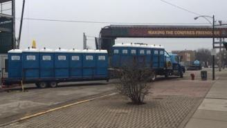 Portable Toilets Have Arrived At Wrigley Field Following Their Opening Night Bathroom Disaster