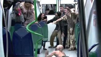 No Fooling, This Zombie Subway Prank Is Legitimately Terrifying