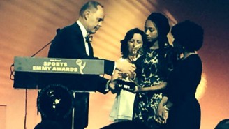 Here's The Touching Moment When Ernie Johnson Gave His Sports Emmy To Stuart Scott's Daughters