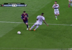Lionel Messi Pulls Off An And1 Crossover On A Helpless Defender