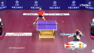Check Out This Crazy Table Tennis 'Point Of The Century'