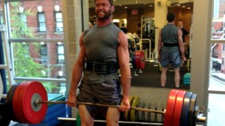 Hugh Jackman Also Has Mutant-Like Strength In The Weight Room