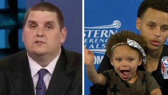 Some NBA Beat Reporters Are Mad That Stephen Curry's Baby Makes Their Job Hard