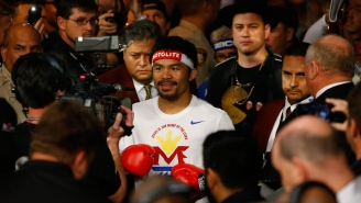Here's How Jimmy Kimmel Made His Way Into Manny Pacquiao's Ring Entourage