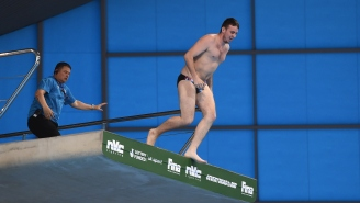 Watch This Streaker Jump Off The 10m Platform At The Diving World Series