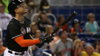 Marlins Star Giancarlo Stanton Is Working Out In A Chewbacca Mask For 'Star Wars' Day