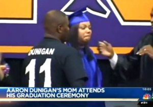 Watch A Mother Somberly Accept Her Son's Diploma After Losing Him In A Post-Prom Crash
