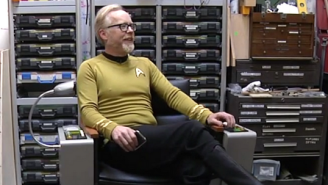 Adam Savage Built The 'Star Trek' Captain's Chair On 'One Day Builds'