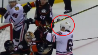 The Blackhawks Had The Best Disallowed Goal Of All-Time With An Andrew Shaw Header