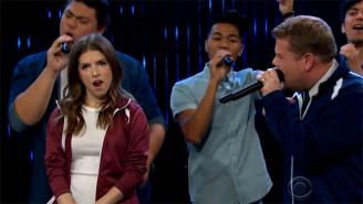 Anna Kendrick Wiped The Floor With James Corden In This 'Pitch Perfect' Riff-Off