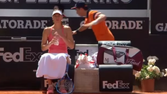 Watch This Ball Boy Tumble And Faceplant Behind Maria Sharapova