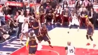 Kent Bazemore Rises Up For The HUGE Lefty Jam Over Tristan Thompson