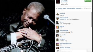 P. Diddy and Justin TImberlake Instagram their Tearful Farewells to BB King