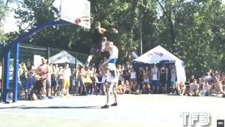 This Dunk Where A Guy Jumps Over Two People Is Just Nuts