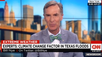 Let Bill Nye Explain How Climate Change Caused Texas Flooding With A Cigarette Analogy