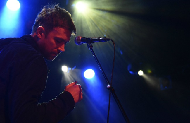 Blur perform during Converse Rubber Tracks Live Presents Blur In Concert at Music Hall of Williamsburg on May 1, 2015 in the Brooklyn borough of New York City.