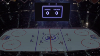 The Tampa Bay Lightning Turned Their Rink Into An NES For A 'Blades Of Steel' Homage