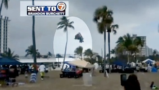 A Bounce House In Florida Holding Three Kids Went Airborne After It Was Carried Off By A Tornado