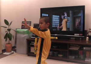 Watch This 5-Year-Old Perfectly Imitate Bruce Lee's Fight Scene From 'Game Of Death'