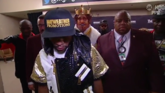 The Freakin' Burger King Walked Out With Floyd Mayweather Before The Fight