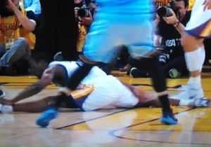 OUCH! Harrison Barnes Slips And Does The Splits While Guarding Courtney Lee