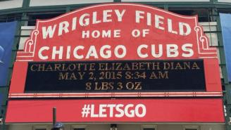 The Cubs Congratulated The Royal Family On The Birth Of Princess Charlotte