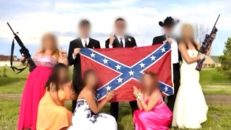 This Prom Photo Of Students Holding Guns Around A Confederate Flag Is Causing Controversy