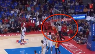 Watch Corey Brewer Accidentally Punch A Referee Right In The Face