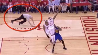 Try Not To Laugh While Watching Joey Crawford Take Another Hard Spill In Game 4