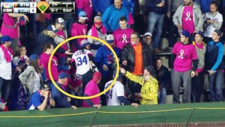 This Cubs Fan Rubbed Her Butt On A Hat And Threw It On The Field