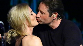 David Duchovny And Gillian Anderson Locked Lips At A Concert In NYC