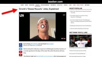 Boston.com Wants To Explain Rob Gronkowski's 'Deez Nuts' Joke To You