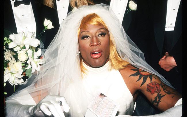 Dennis Rodman wedding dress