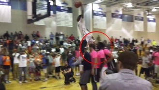 Watch Derrick Jones Jump Over Four People To Win Another Dunk Contest