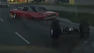 Watch As The Axle Of This Muscle Car Flies Off After The Driver Hits The Gas