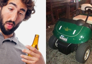 Two Drunk Bros Stole A Golf Cart From A PGA Event And Drove It 5 Miles To The Bar