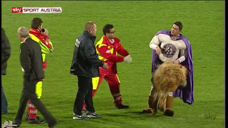 The Drunkest Person At This Soccer Match Might Be The Mascot